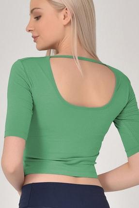 bilcee Kadın Yeşil Yoga T-shırt Gs-8105 1