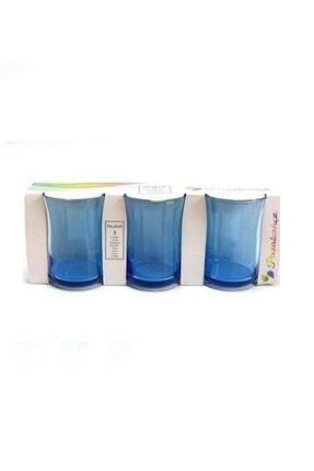 Paşabahçe 3'Lü Mavi Heybeli Su Bardağı 280 cc 0