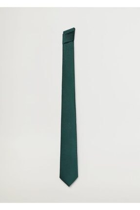 Mango Erkek Yeşil Geometrik Baskılı Kravat 1