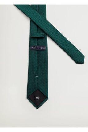 Mango Erkek Yeşil Geometrik Baskılı Kravat 3