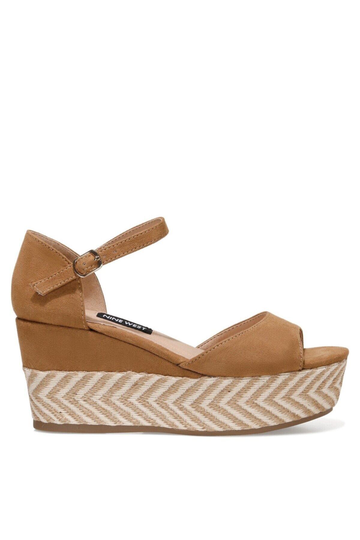 TRUDELL 1FX Camel Kadın Dolgu Topuklu Sandalet 101030545