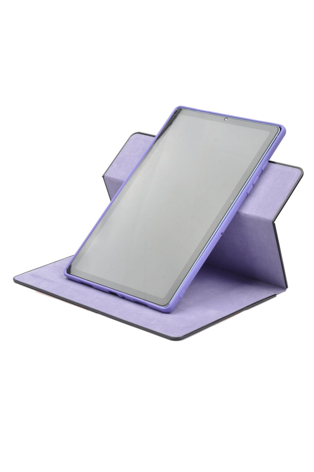 """Galaxy Tab A7 T500 10.4"""" Tablet Kılıfı Yeni Nesil 360 Dönebilen Dışı Deri Içi Yumuşak Silikon"""