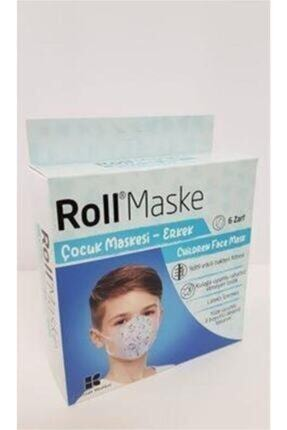 Roll Erkek 5li 6 Zarf 30 Adet Çocuk Maskesi 2