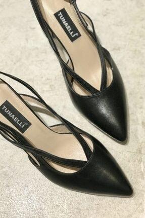 Kadın Siyah Hakiki Deri 35-40 Numara Topuklu Ayakkabı 000780.1SİYAH
