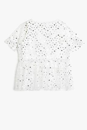 Koton Koton Ekru Kız Çocuk T-shirt 0ykg17966ak 1