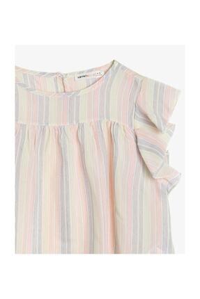 Koton Kız Çocuk Renkli Çizgili Bluz 0YKG67046AW 2