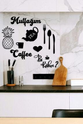 HTS TASARIM Mutfağım Ananas Ve Bi Kahve Mutfak Konsepti Ahşap Duvar Dekoru 0