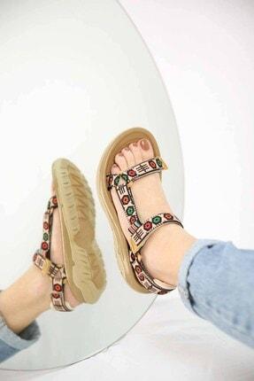 Ccway Kadın Vizon Cırtlı Sandalet 1