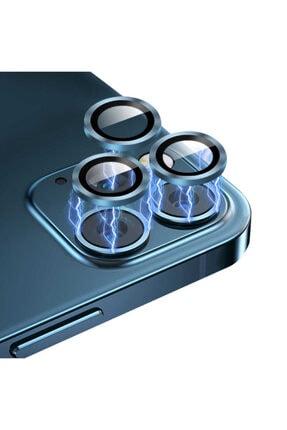 Cep prime Iphone 12 Pro Uyumlu Max ???4 Katmanlı Metal Nano Sistem Tam Koruma Sistem Lens Gold 3