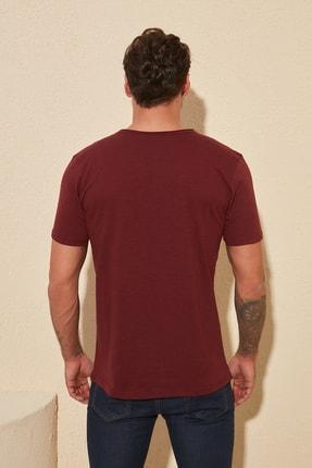 TRENDYOL MAN Bordo Basic Flamlı Süprem Regular Fit T-Shirt TMNSS20TS0035 3