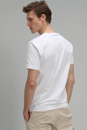 Lufian Mark Modern Grafik T- Shirt Beyaz 4