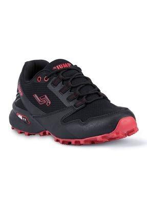 Jump 24810 Anatomik Günlük Erkek Spor Ayakkabı - - Siyah-kırmızı - 41 0