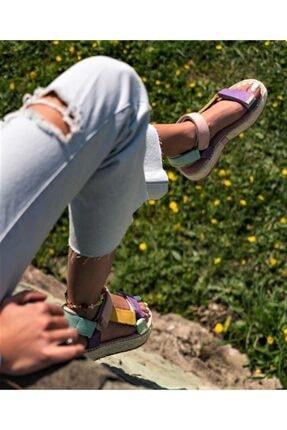 TEOS Ayakkabı Wicker Sandalet 2