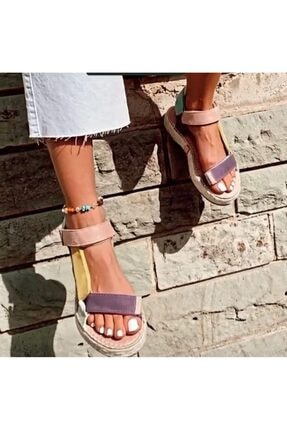 TEOS Ayakkabı Wicker Sandalet 3