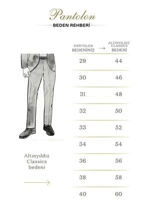 Altınyıldız Classics Erkek Gri Slim Fit Desenli Pantolon 4