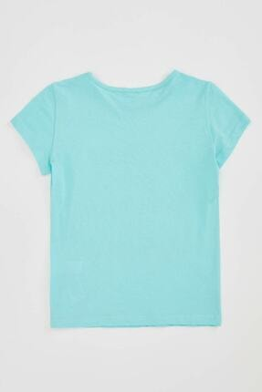 Defacto Kız Çocuk Baskılı Kısa Kollu Tişört 1