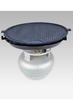M&K Home Tüplü Döküm Granit Mangal Tava Izgara Et Tavuk Mühürleme Yufka Ekmek Pişirme Portatif 45 Cm 0