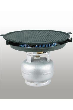 M&K Home Tüplü Döküm Granit Mangal Tava Izgara Et Tavuk Mühürleme Yufka Ekmek Pişirme Portatif 45 Cm 1