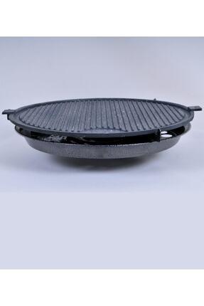 M&K Home Tüplü Döküm Granit Mangal Tava Izgara Et Tavuk Mühürleme Yufka Ekmek Pişirme Portatif 45 Cm 3