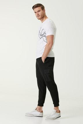 Network Erkek Slim Fit Beyaz Baskılı Basic T-shirt 1078309 3