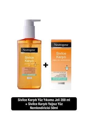 Neutrogena Sivilce Karşıtı Temizleme Jeli 150 ml+Nemlendirici 50 ml 0
