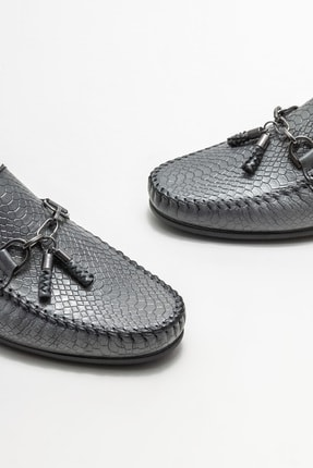 Elle Erkek Gri Deri Günlük Loafer Ayakkabı 2
