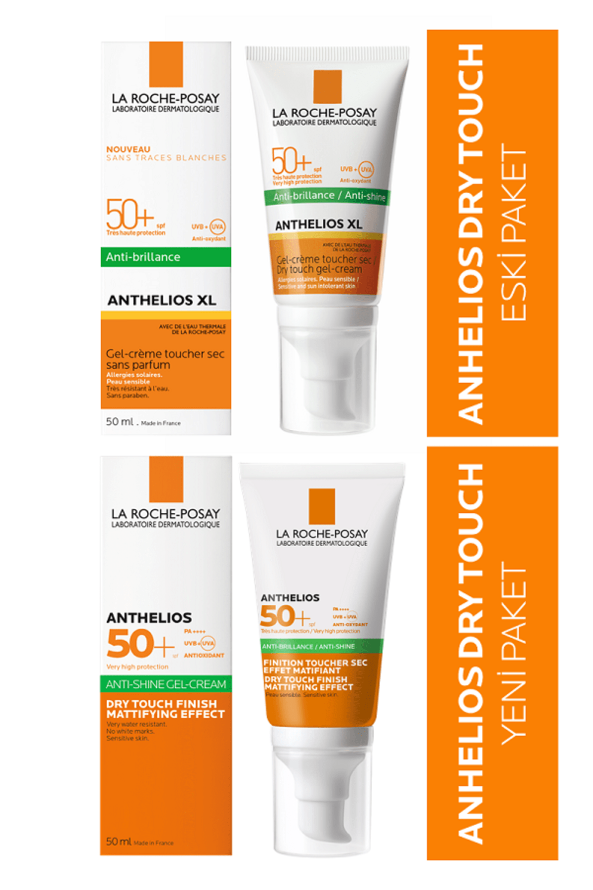 La Roche Posay Anthelios Xl Spf 50+ Dry Touch Gel-Cream Anti-Shine 50 ml 4