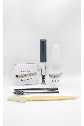 browlift Kaş Sabitleyici Sabun Set.şeffaf Kaşsabunu+fix Sprey+kaş Usturası+ Fırça Kaş Kirpik Dolgunlaştırıcı 1
