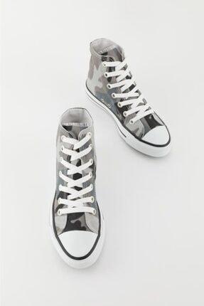 Espardile Unisex Kamuflaj Desen Uzun Spor Ayakkabı 2