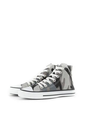 Espardile Unisex Kamuflaj Desen Uzun Spor Ayakkabı 3