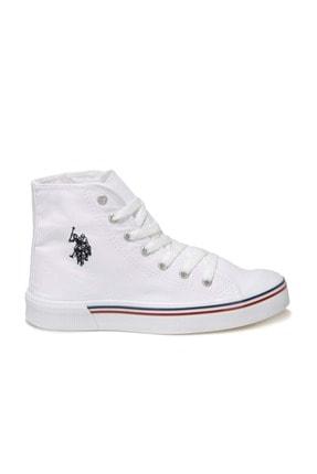 US Polo Assn PENELOPE HIGH 1FX Beyaz Kadın Havuz Taban Sneaker 100910633 1