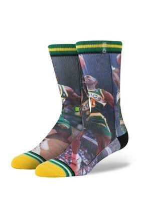 تصویر از Erkek Basketbol Çorabı Payton / Kemp Green