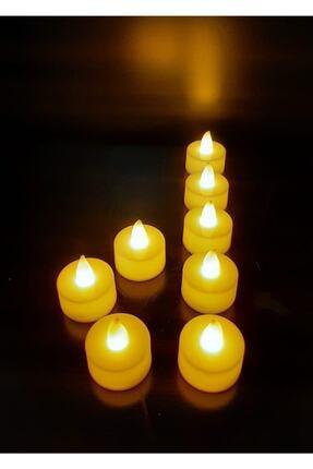 DDTREND Piler Dahil Kullanıma Hazır 6 Adet Titreyen Sarı Işıklı Led Mum El Mumu Tealight 1