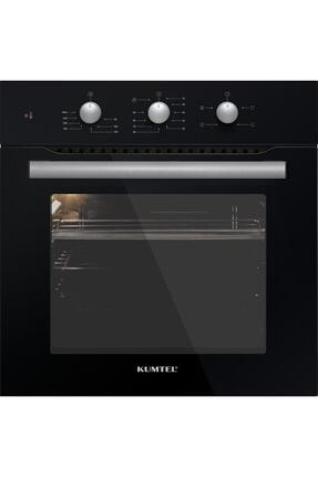 KUMTEL 3lü Ankastre Set Turbo Fanlı Siyah Cam 1