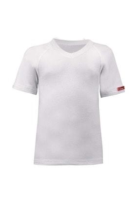 Picture of 9249 Thermal Çocuk T-shirt K K V Y Beyaz 104/110