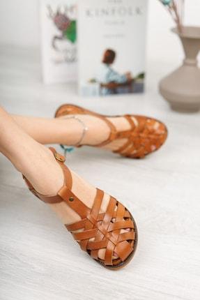 Muggo Infw313 Hakiki Deri Kadın Sandalet 1