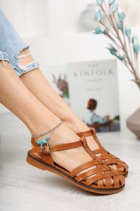 Muggo Infw313 Hakiki Deri Kadın Sandalet 2