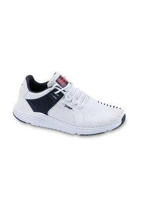 Jump Erkek Beyaz Günlük Yürüyüş Rahat Taban Spor Ayakkabı 24909 2