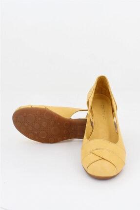 Deripabuc Hakiki Deri Sarı Kadın Deri Babet Trc-4000 0