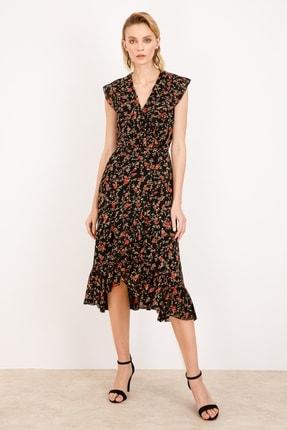 Ekol Fırfırlı Kruvaze Elbise 21y.5164 K5164