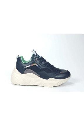 Kadın Siyah Yüksek Taban Bagcıklı Spor Ayakkabı Cp - Cilt File - - 38 AKG S-1060CF