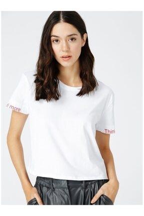 Kadın Beyaz Kısa Kol T-Shirt 505699233
