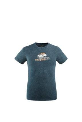 Picture of Erkek Mavi Baskılı T-Shirt