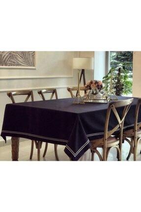 Masa Örtüsü Nakışlı Keten Masa Örtüsü