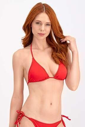Arnetta Kadın Kırmızı İpli Üçgen Bikini Üstü 0