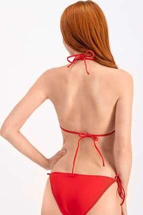 Arnetta Kadın Kırmızı İpli Üçgen Bikini Üstü 1