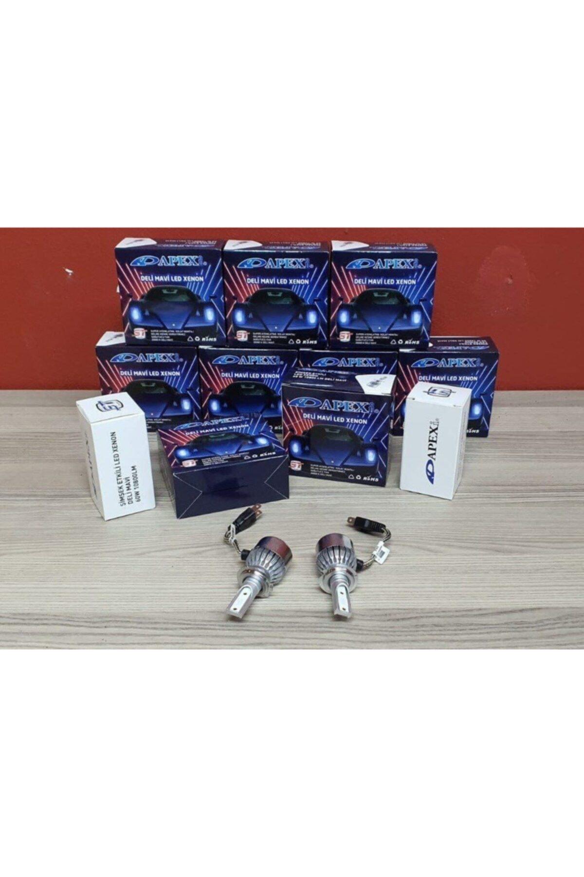 Zenon H11 Deli Mavi Led Xenon-şimşek Etkili-10800 Lm 60w Yüksek Aydınlatma Gücü