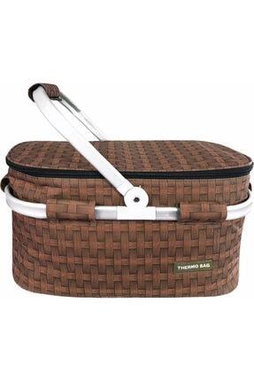 Weigo Thermo Bag Termoslu Piknik Sepeti - Piknik Çantası Kahverengi 0