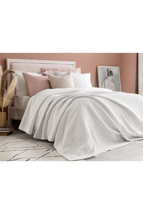 Madame Coco Eugenia King Size Yatak Örtüsü - Beyaz 1