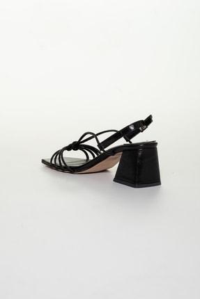 Moda Değirmeni Siyah Cilt Kadın Klasik Topuklu Ayakkabı Md1034-119-0005 3